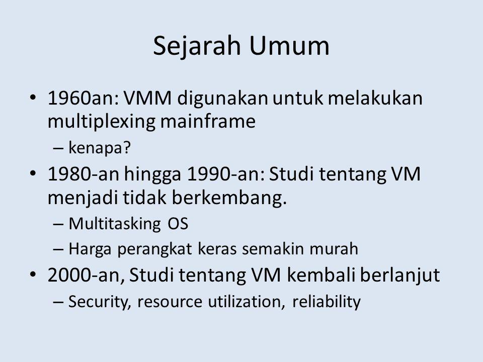 Sejarah Umum 1960an: VMM digunakan untuk melakukan multiplexing mainframe – kenapa.