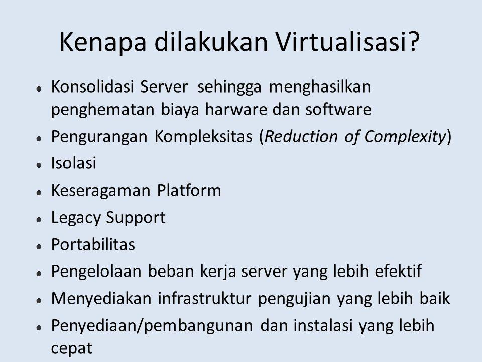 Kenapa dilakukan Virtualisasi.