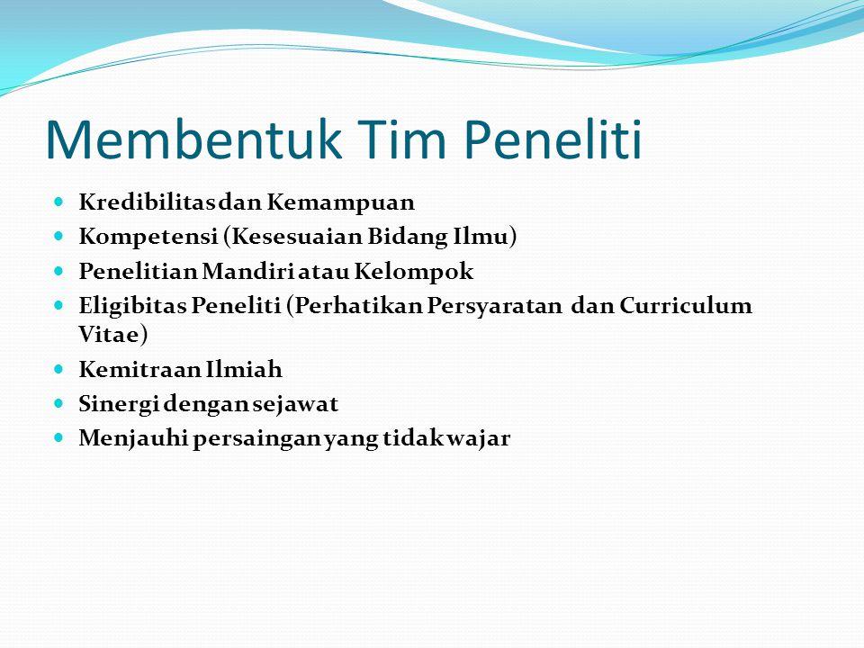 Kriteria, Persyaratan Pengusul dan Tata Cara Pengusulan a.