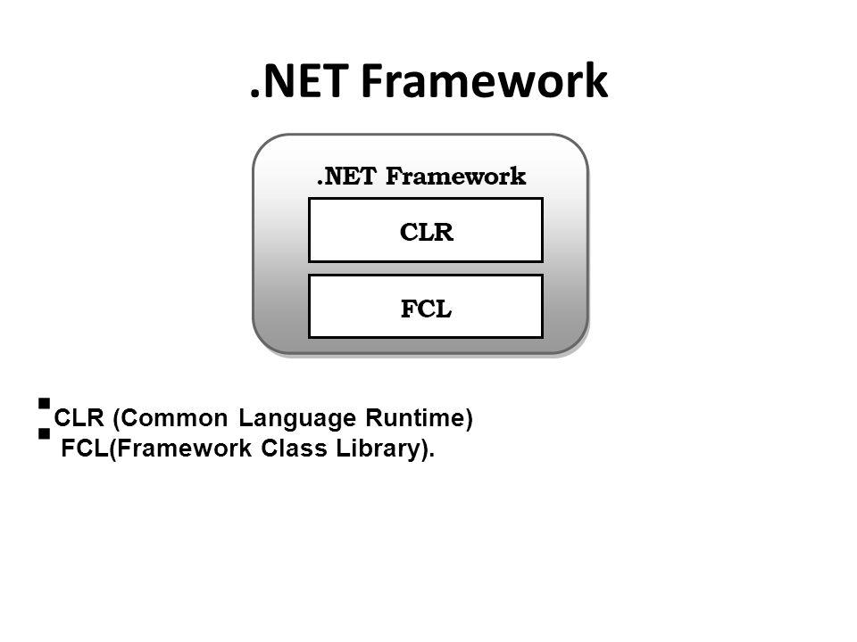 Common Language Runtime (CLR) adalah pondasi utama dari Framework.NET.