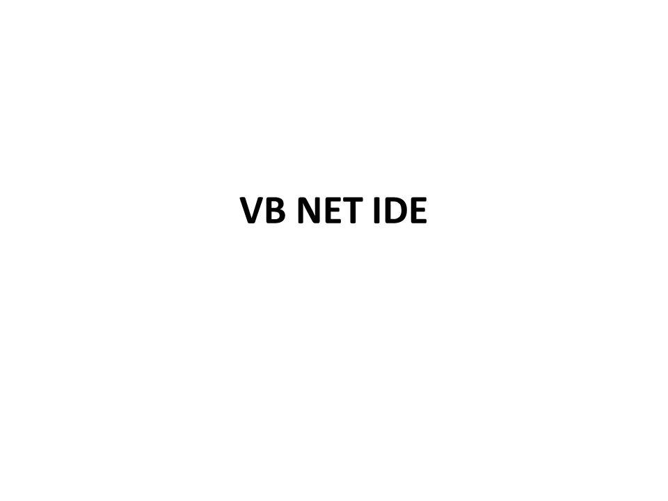 VB NET IDE