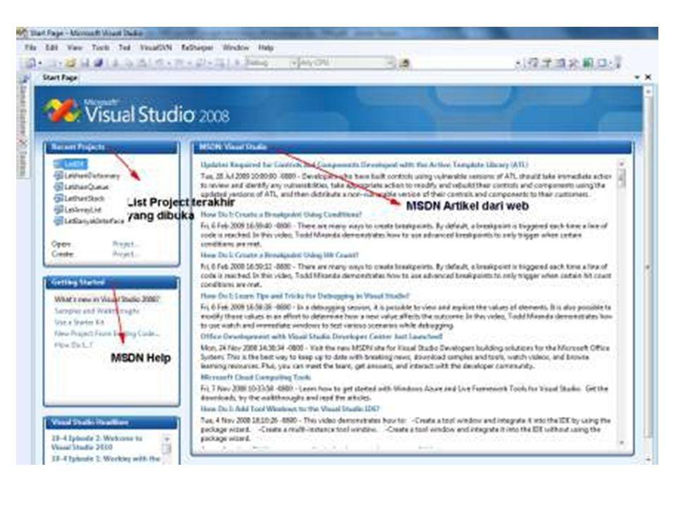 Konfigurasi Halaman Startup tools =>options=> kemudian pillih Environmnt =>bagian statup.
