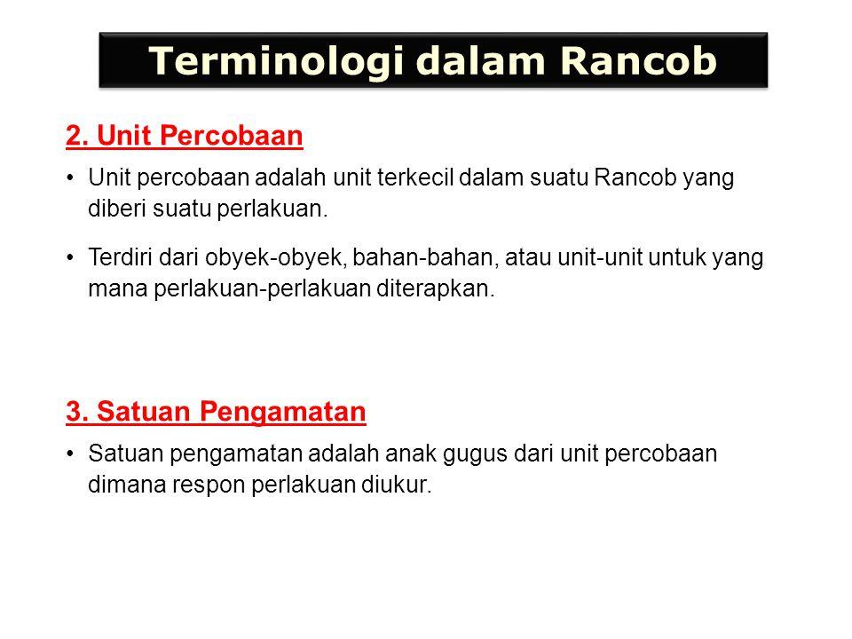 Terminologi dalam Rancob 4.