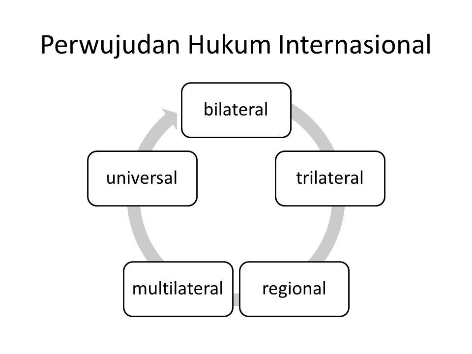 Perwujudan Hukum Internasional bilateraltrilateralregionalmultilateraluniversal