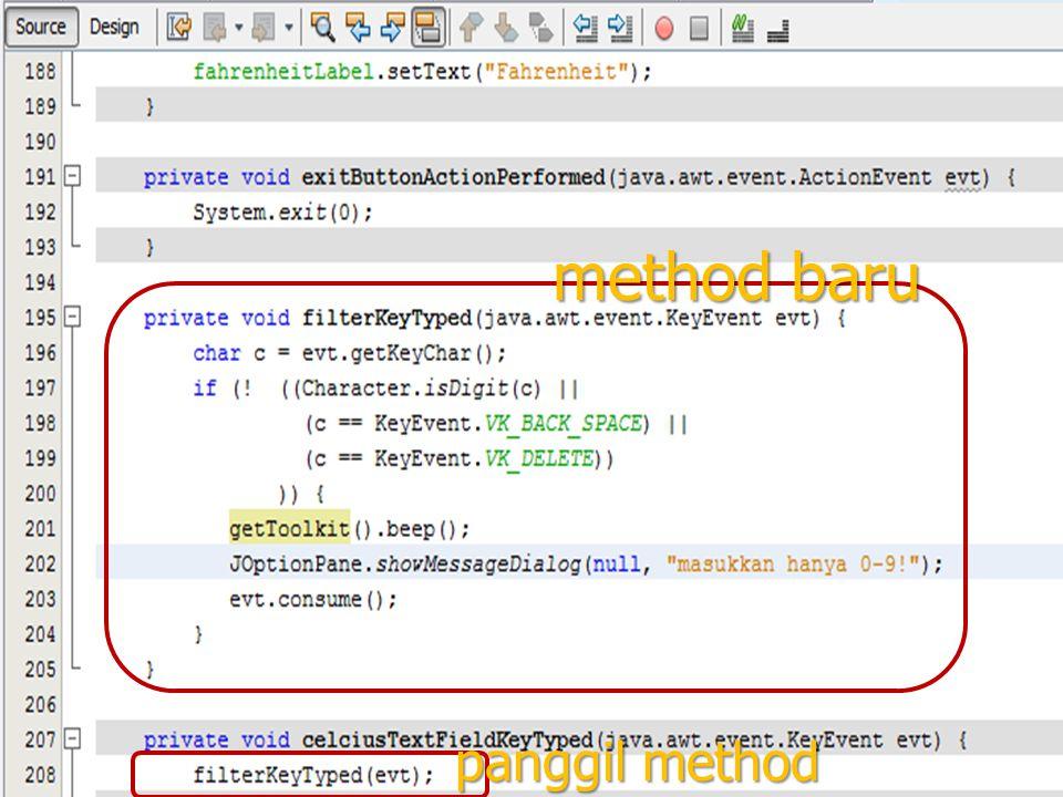 116 method baru panggil method