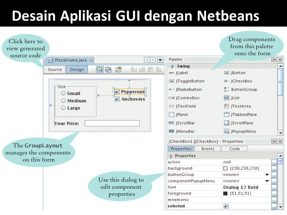13 Desain Aplikasi GUI dengan Netbeans