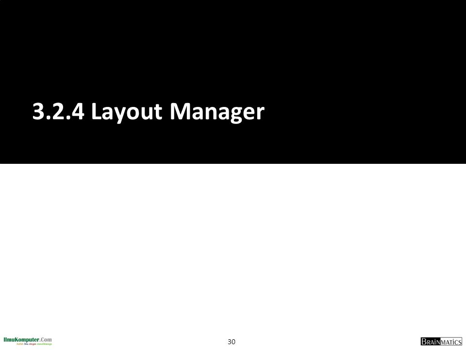 30 3.2.4 Layout Manager