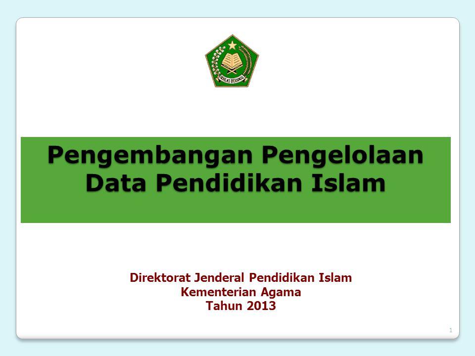 1 Pengembangan Pengelolaan Data Pendidikan Islam Direktorat Jenderal Pendidikan Islam Kementerian Agama Tahun 2013