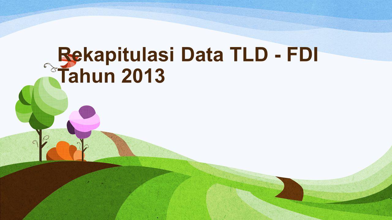 Rekapitulasi Data TLD - FDI Tahun 2013