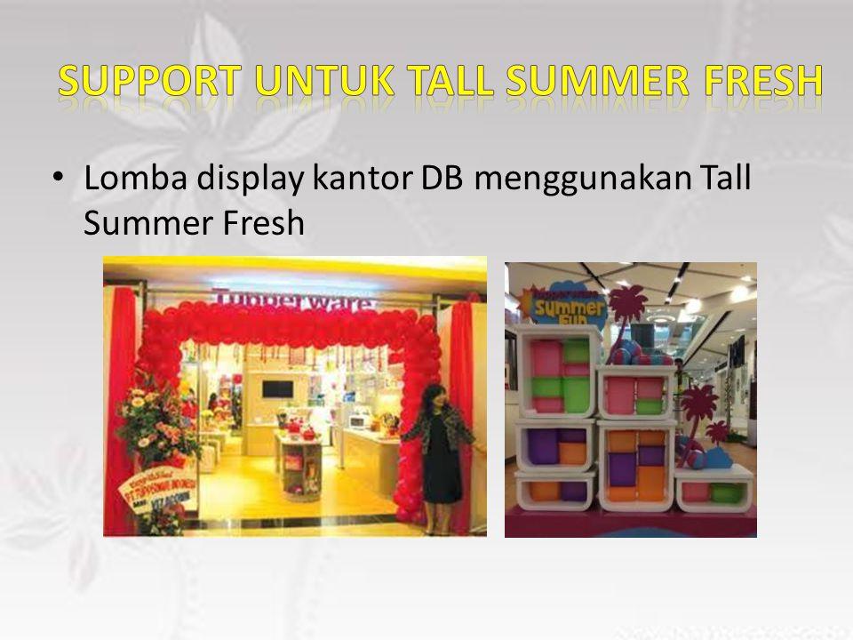 Lomba display kantor DB menggunakan Tall Summer Fresh