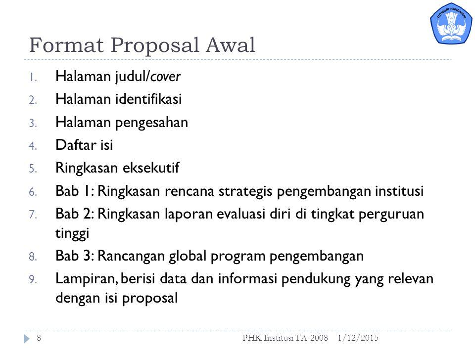 Tema dalam PHK 2008 1/12/2015PHK Institusi TA-20087  Tema A  Tema A: Peningkatan kapasitas institusional dan mutu manajemen perguruan tinggi.