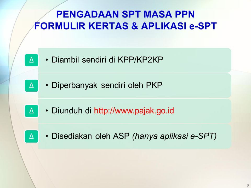 39 Induk Untuk melaporkan pembayaran kembali PM oleh PKP Gagal Berproduksi Dalam hal tidak ada data yang dilaporkan dalam Lampiran, maka kolom ini tidak perlu diisi dan Lampiran yang bersangkutan tidak perlu dilampirkan