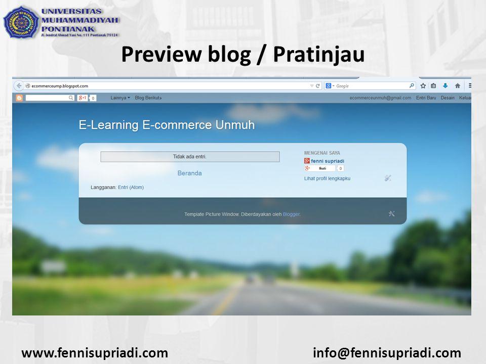 www.fennisupriadi.cominfo@fennisupriadi.com Preview blog / Pratinjau