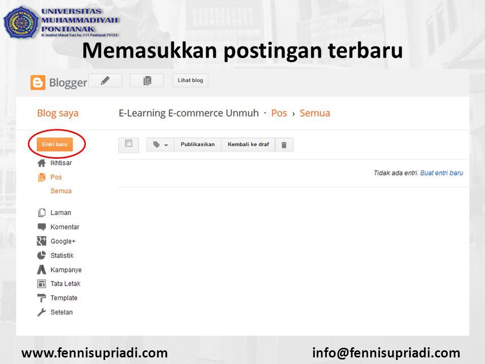 www.fennisupriadi.cominfo@fennisupriadi.com Memasukkan postingan terbaru