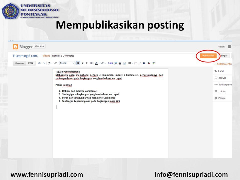 www.fennisupriadi.cominfo@fennisupriadi.com Mempublikasikan posting
