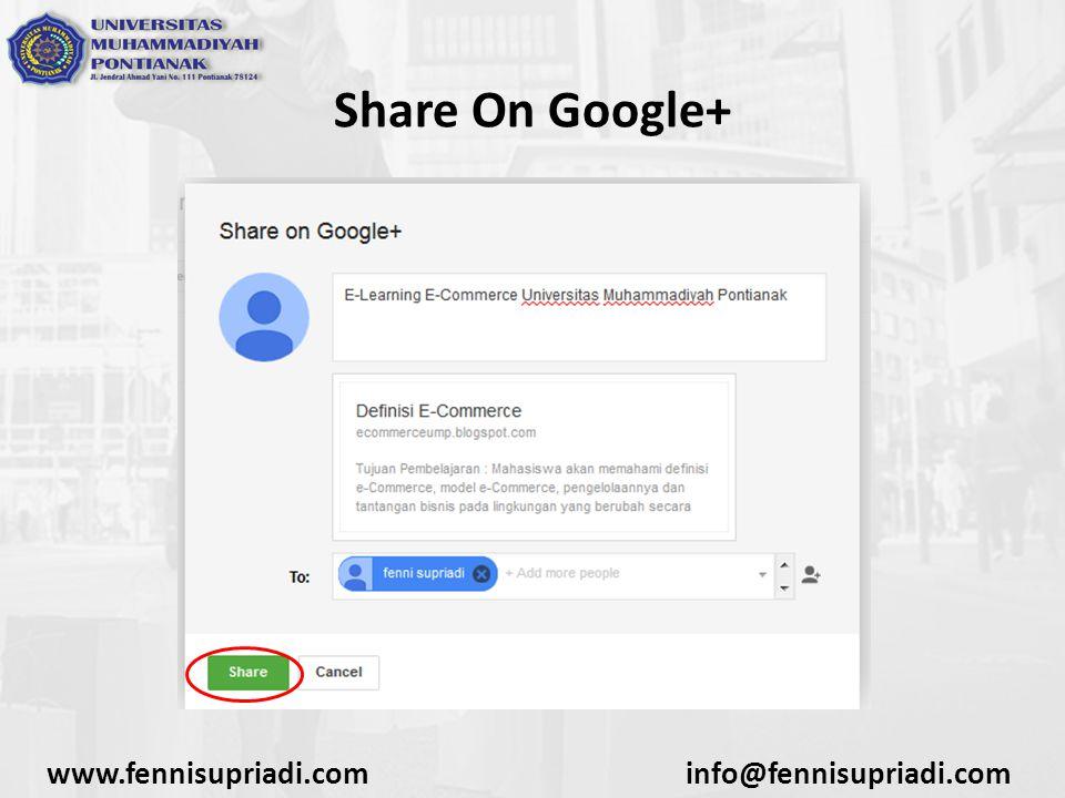 www.fennisupriadi.cominfo@fennisupriadi.com Share On Google+