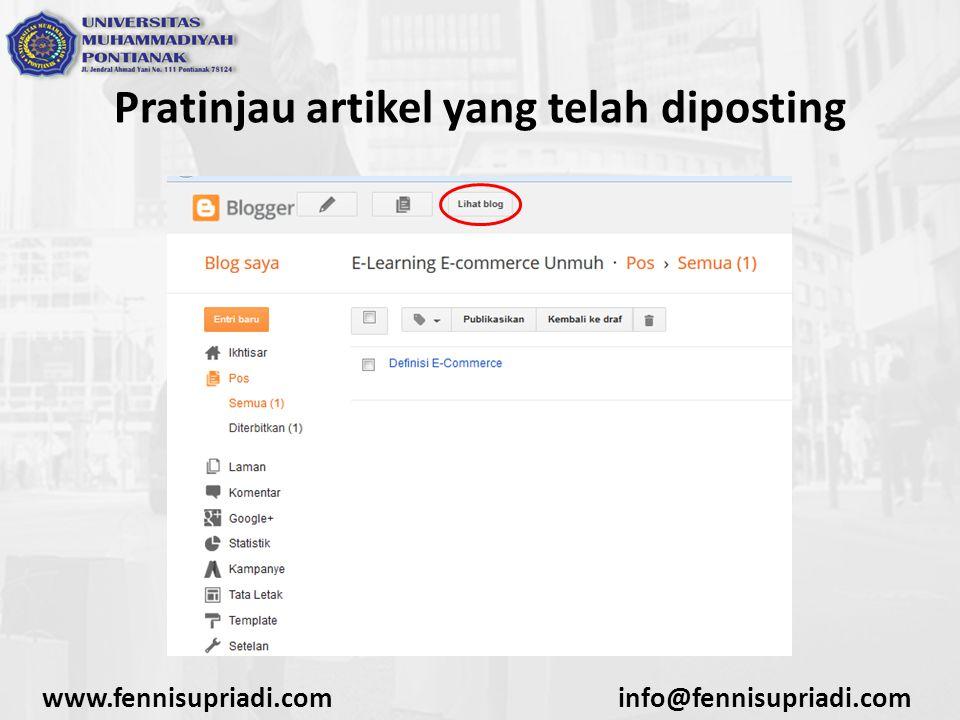 www.fennisupriadi.cominfo@fennisupriadi.com Pratinjau artikel yang telah diposting