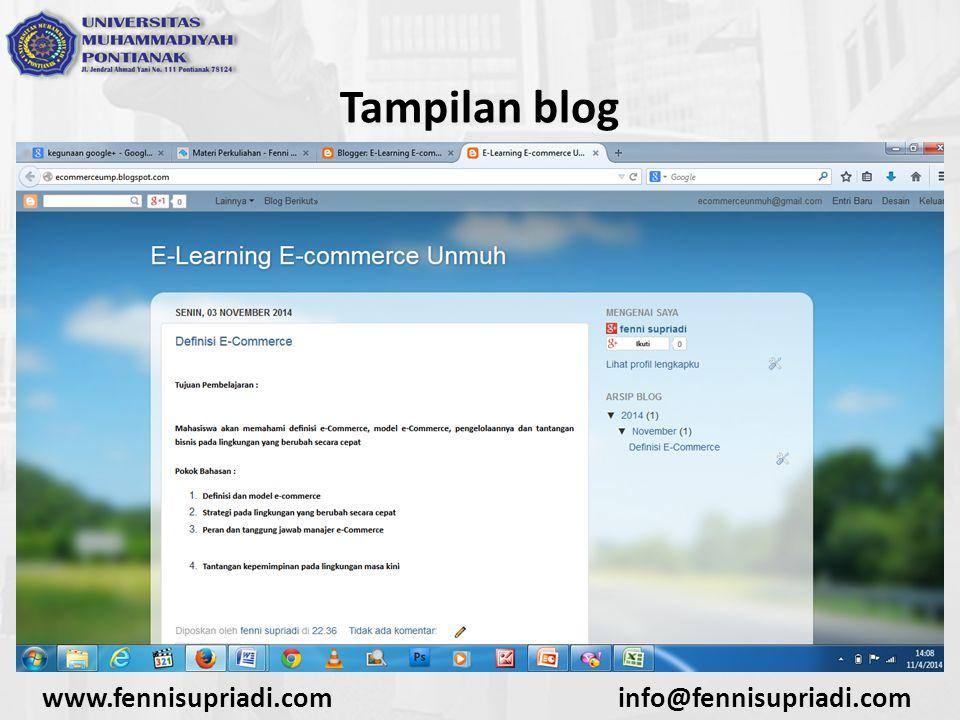 www.fennisupriadi.cominfo@fennisupriadi.com Tampilan blog