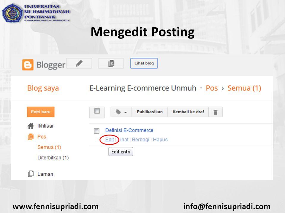 www.fennisupriadi.cominfo@fennisupriadi.com Mengedit Posting