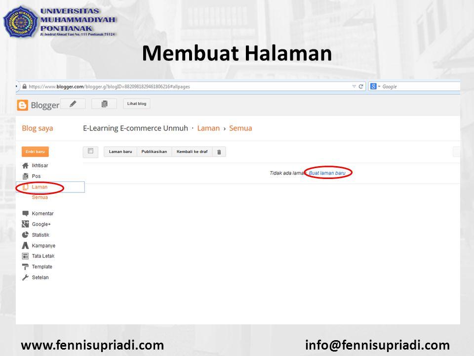 www.fennisupriadi.cominfo@fennisupriadi.com Membuat Halaman