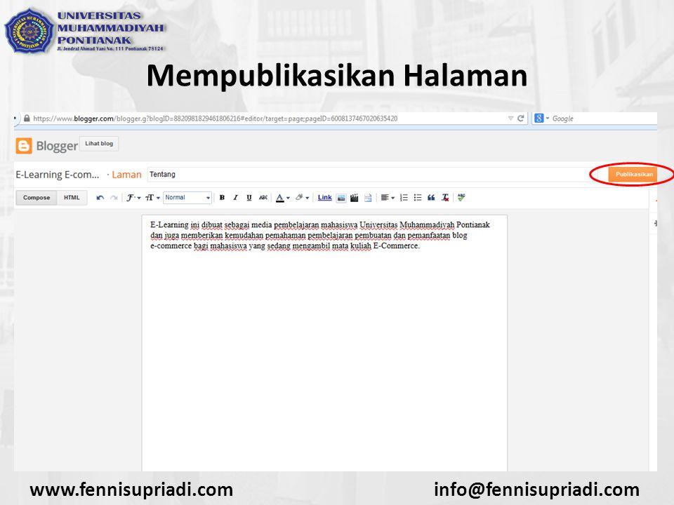 www.fennisupriadi.cominfo@fennisupriadi.com Mempublikasikan Halaman