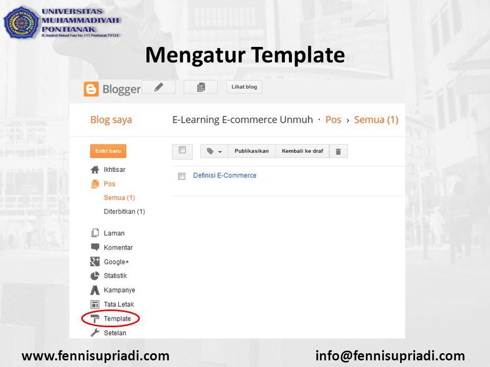 www.fennisupriadi.cominfo@fennisupriadi.com Mengatur Template