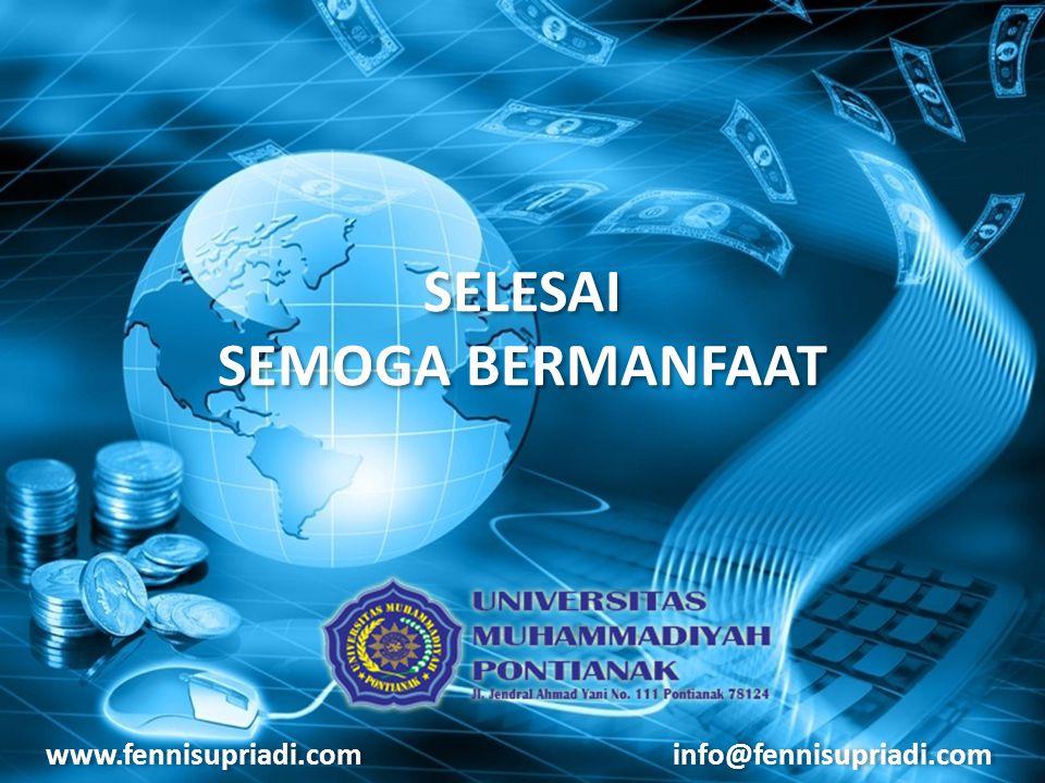 www.fennisupriadi.com info@fennisupriadi.com SELESAI SEMOGA BERMANFAAT