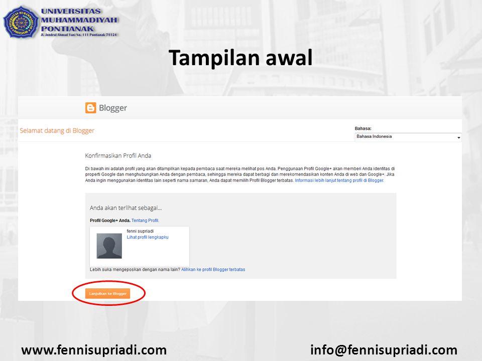 www.fennisupriadi.cominfo@fennisupriadi.com Tampilan awal