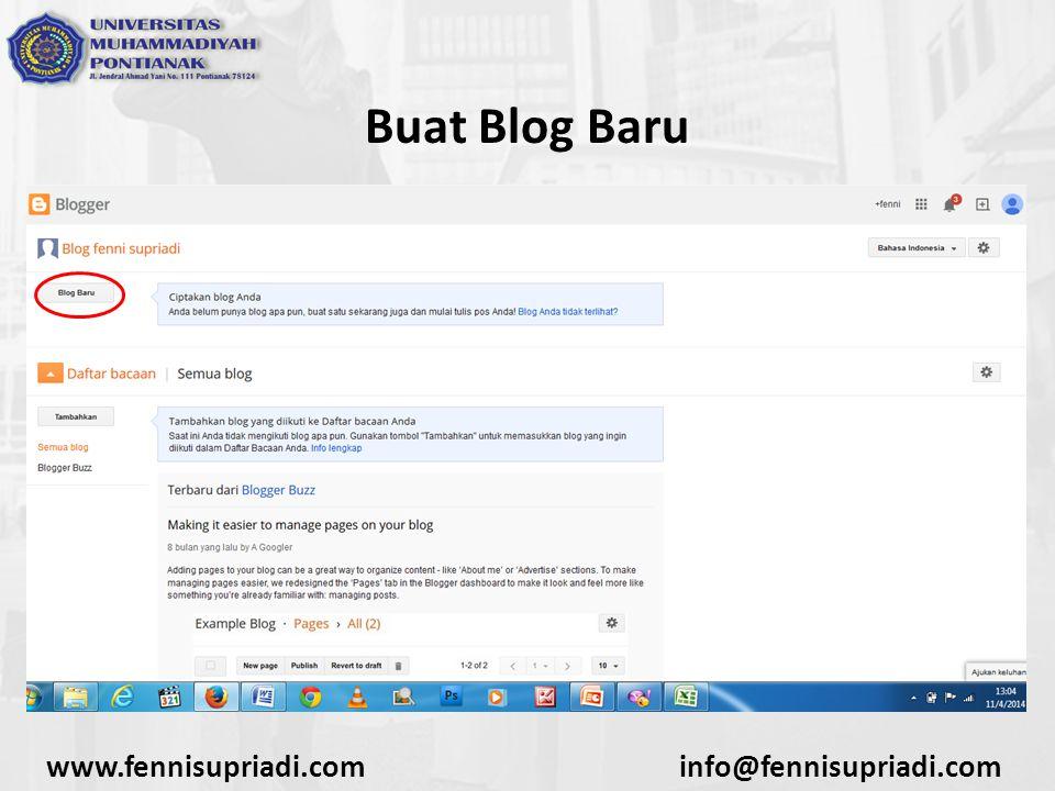 www.fennisupriadi.cominfo@fennisupriadi.com Buat Blog Baru