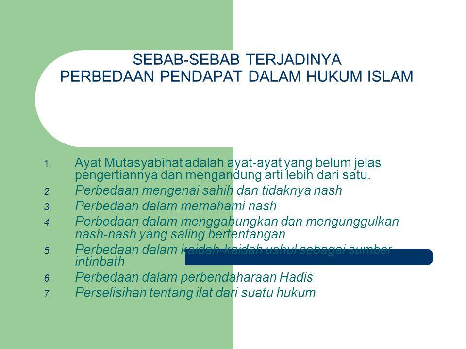 Contoh Masalah hukum membaca Quran bagi orang yang sedang haid, terjadi perbedaan pendapat di kalangan para ulama.