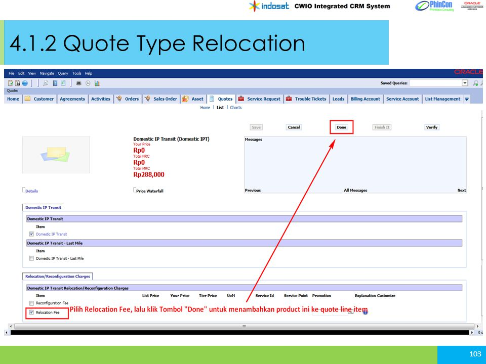 4.1.2 Quote Type Relocation 103