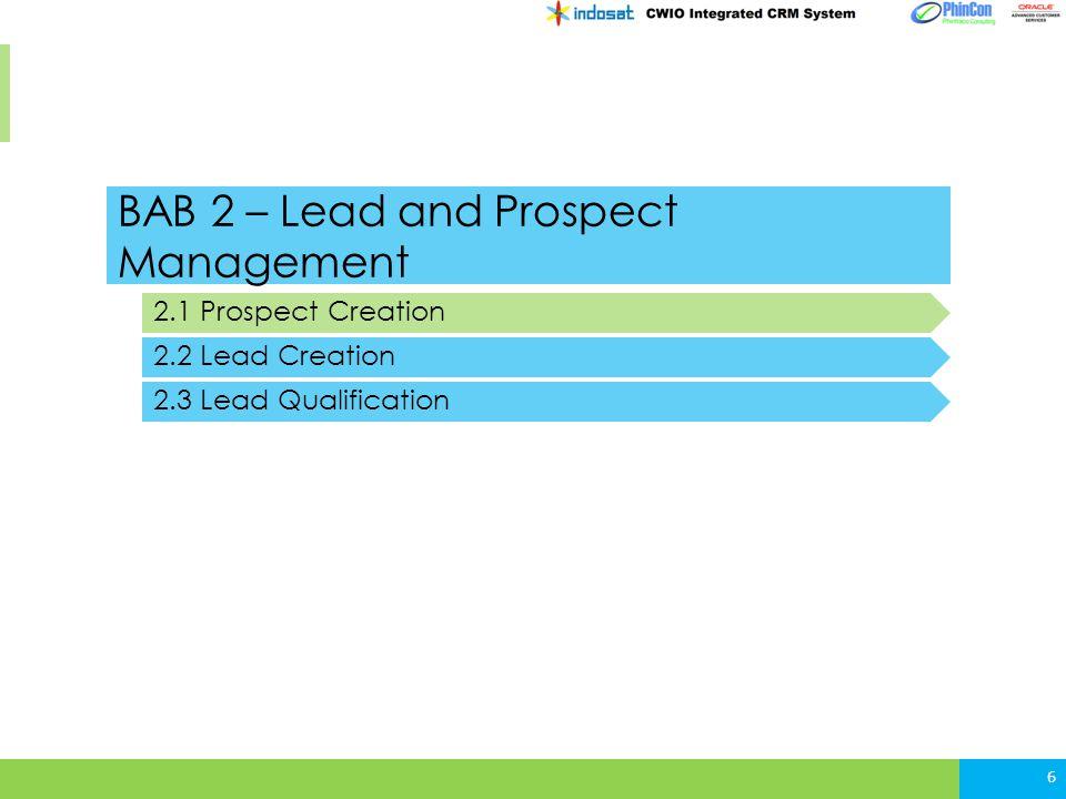 2.2 Lead Creation – CATALIST Process (UI) 17
