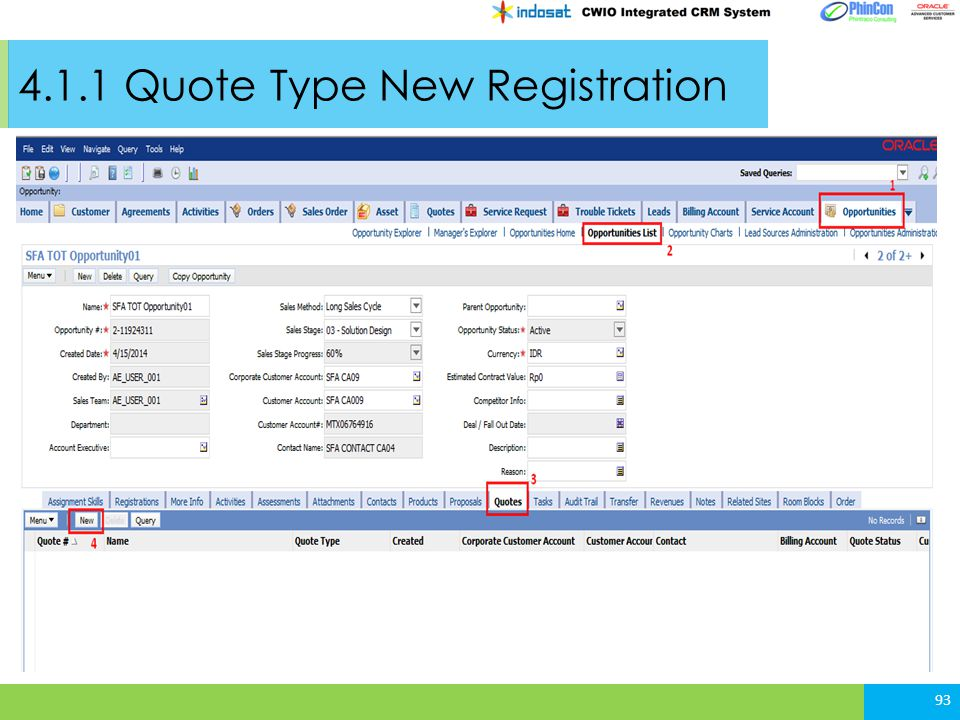 4.1.1 Quote Type New Registration 93