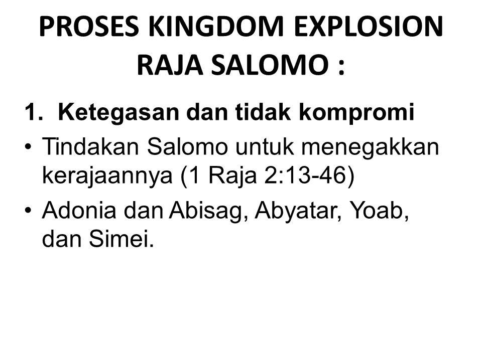 2.Hidup sesuai dengan aturan Daud Salomo melakukan apa yang Daud sudah kerjakan dengan taat.