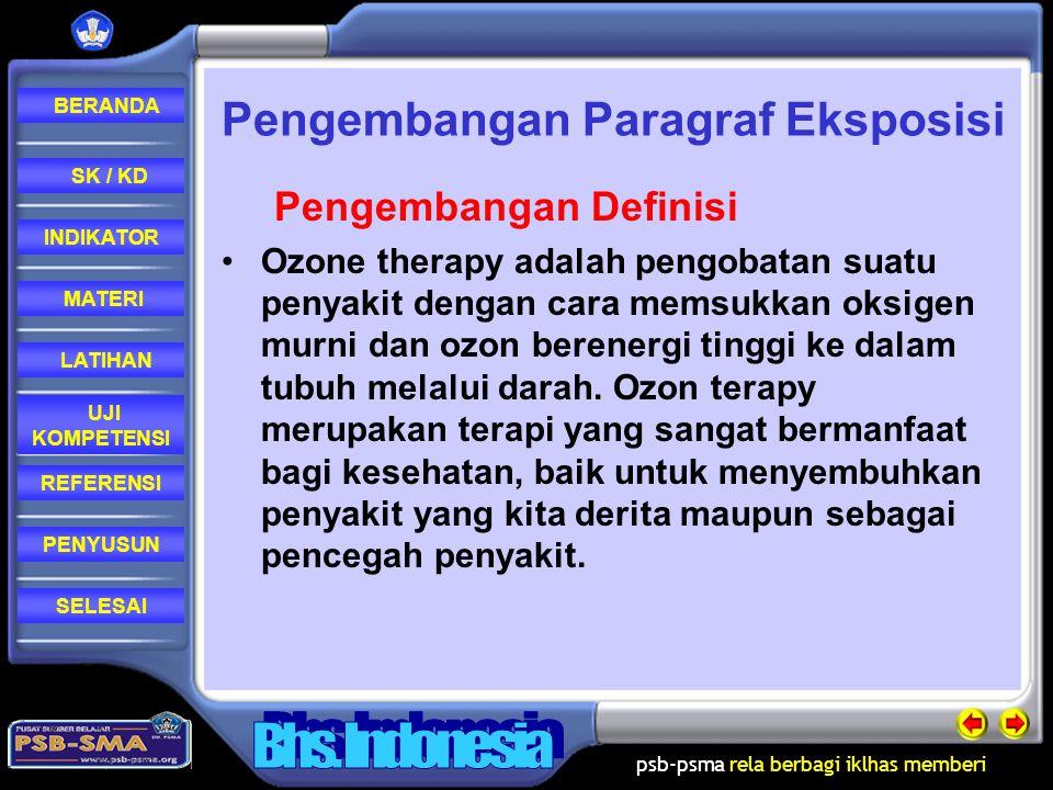 psb-psma rela berbagi iklhas memberi REFERENSI LATIHAN MATERI PENYUSUN INDIKATOR SK / KD UJI KOMPETENSI BERANDA SELESAI Pengembangan sebab-akibat Sumb