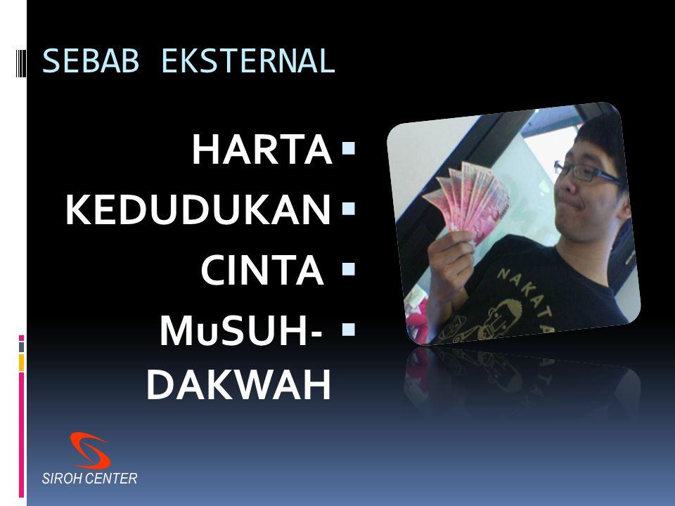 SEBAB INTERNAL  Tidak Tawazun  TIDAK IKHLAS  Isti'jal / Tergesa-gesa