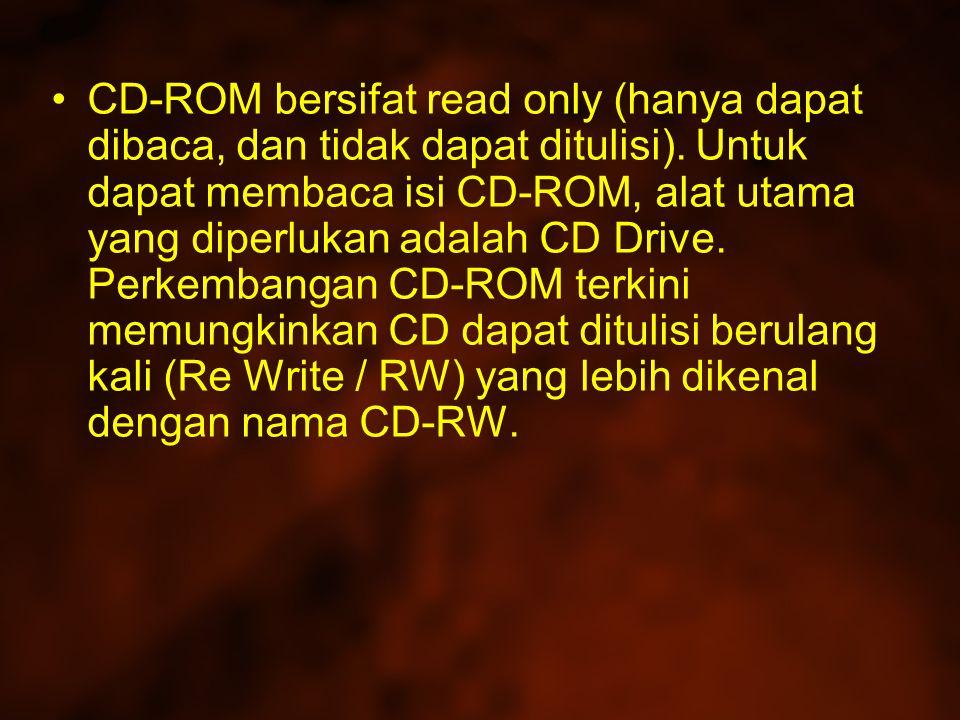 CD-ROM yang ada saat ini umumnya terbuat dari resin (polycarbonate) dan dilapisi permukaan yang sangat reflektif seperti alumunium.