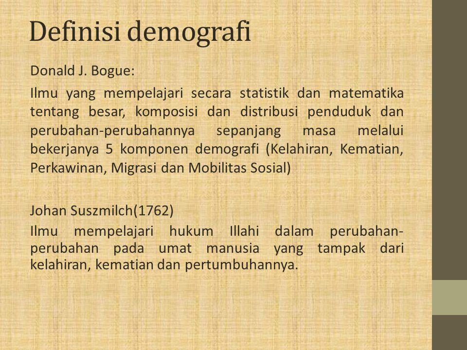 Definisi demografi Donald J.
