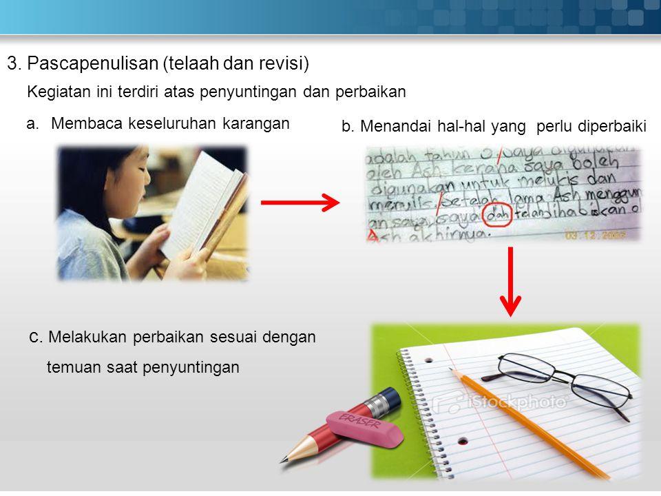 2. Tahap Penulisan (Pengembangan isi karangan) Isi Awal Penutup
