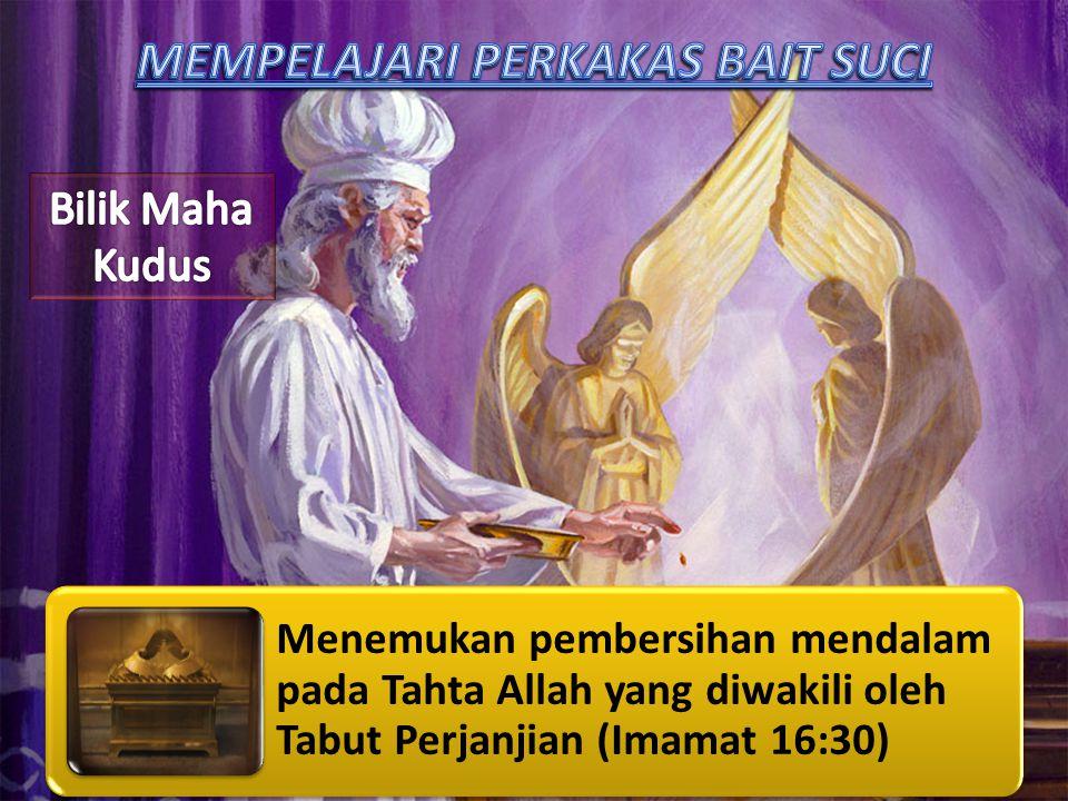 Menemukan pembersihan mendalam pada Tahta Allah yang diwakili oleh Tabut Perjanjian (Imamat 16:30)