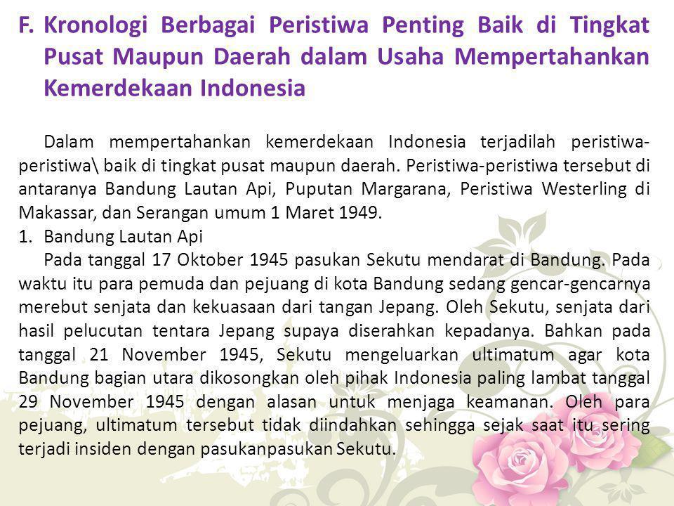 Sekutu mengulangi ultimatumnya pada tanggal 23 Maret 1946 yakni agar TRI meninggalkan kota Bandung.