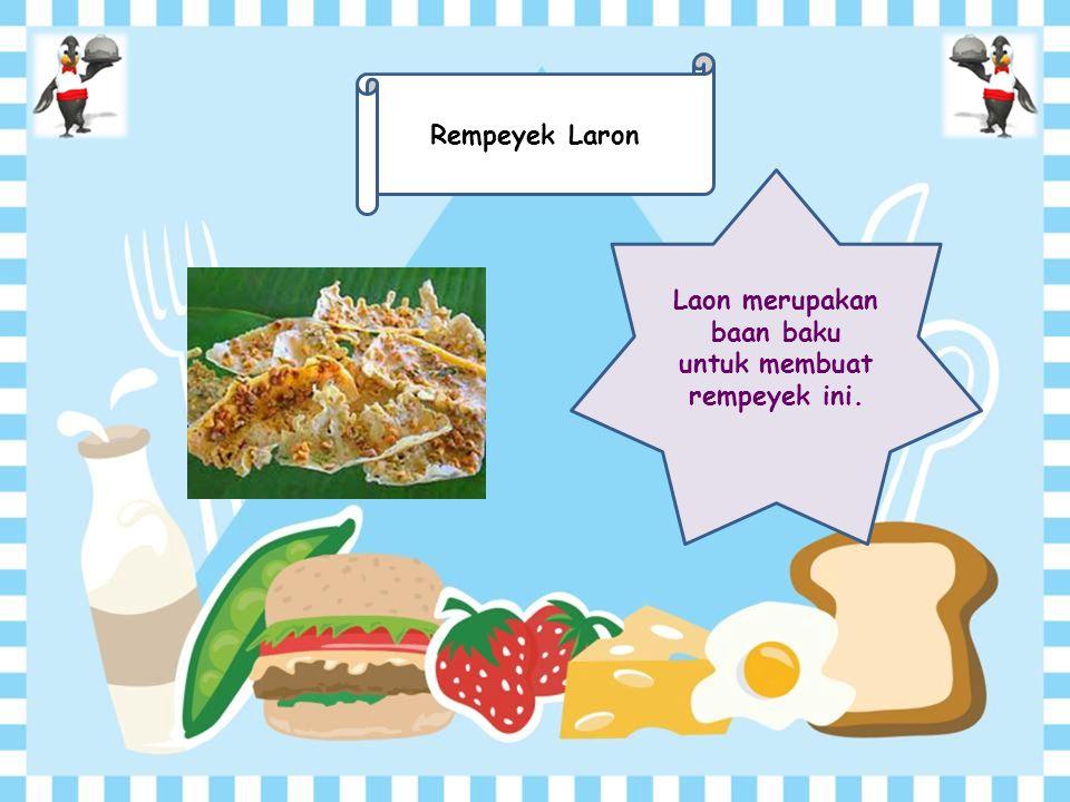 Makanan Khas Indonesia yang Mengerikan dan Unik Menu : 1.Lawar BaliLawar Bali 2.Rujak CingurRujak Cingur 3.Rempeyek LaronRempeyek Laron 4.Kelelawar GorengKelelawar Goreng 5.Aneka SateAneka Sate Klik