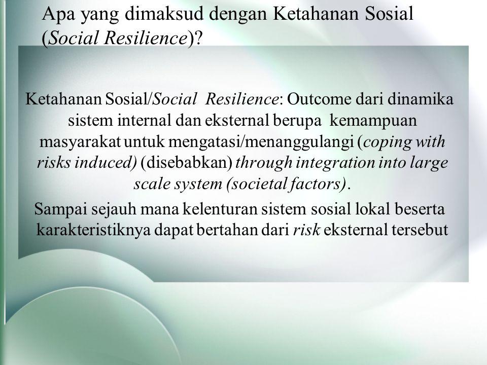 Apa yang dimaksud dengan Ketahanan Sosial (Social Resilience).