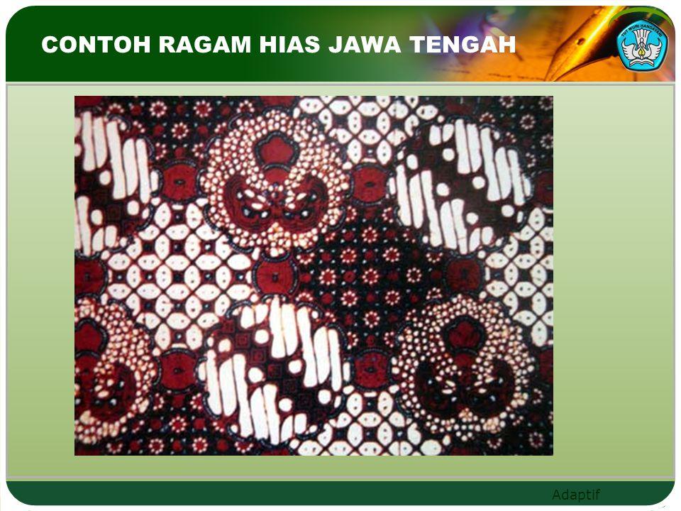 Adaptif CONTOH RAGAM HIAS JAWA TENGAH