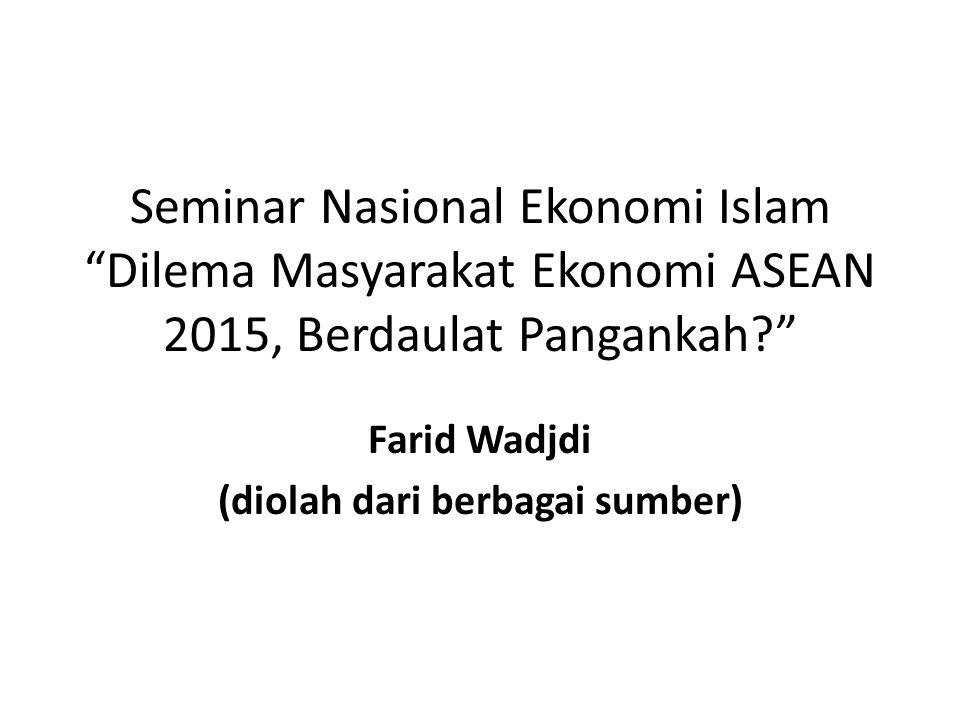 Fakta Ketahanan Pangan Kita laporan Global Food Security Index (GFSI) yang diterbitkan the Economist (2013) Indonesia tercatat berada pada peringkat ke 66 dari 106 negara yang disurvei tentang keamanan pangannya.