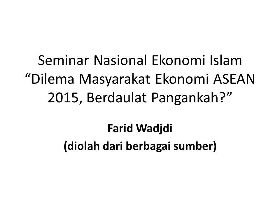 "Seminar Nasional Ekonomi Islam ""Dilema Masyarakat Ekonomi ASEAN 2015, Berdaulat Pangankah?"" Farid Wadjdi (diolah dari berbagai sumber)"