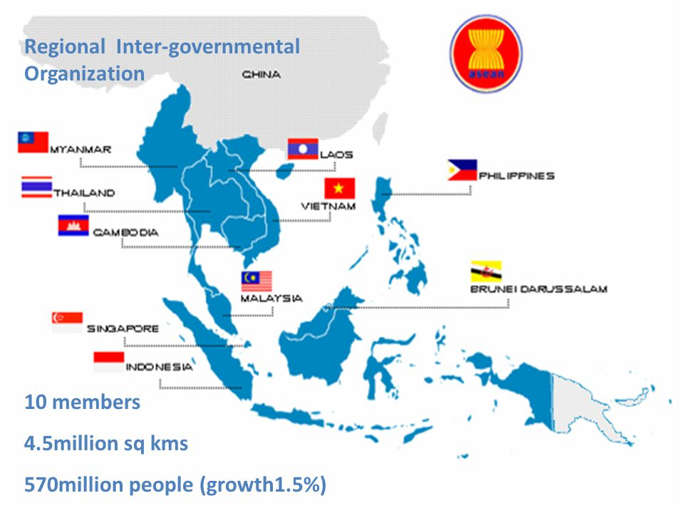 Overview of ASEAN Economic Community AEC Single Market and Production base Single Market and Production base To create a stable, prosperous and highly competitive ASEAN economic region Free flow of capital Free flow of goods services, investment, and skilled labor Free flow of goods services, investment, and skilled labor characteristic objective