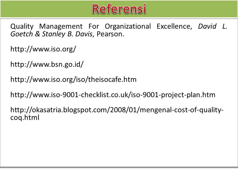 Quality Management For Organizational Excellence, David L.
