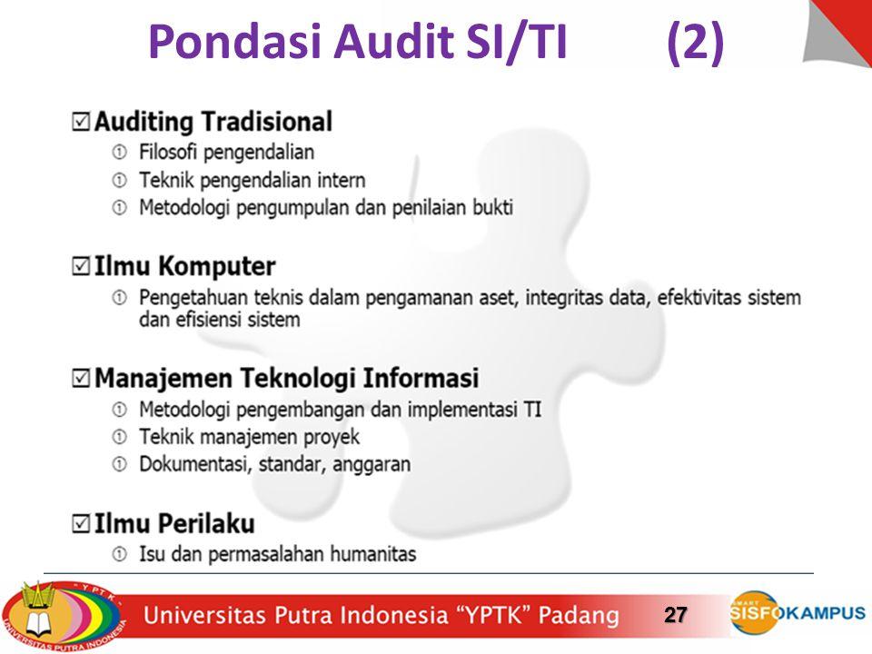 Pondasi Audit SI/TI (2)27