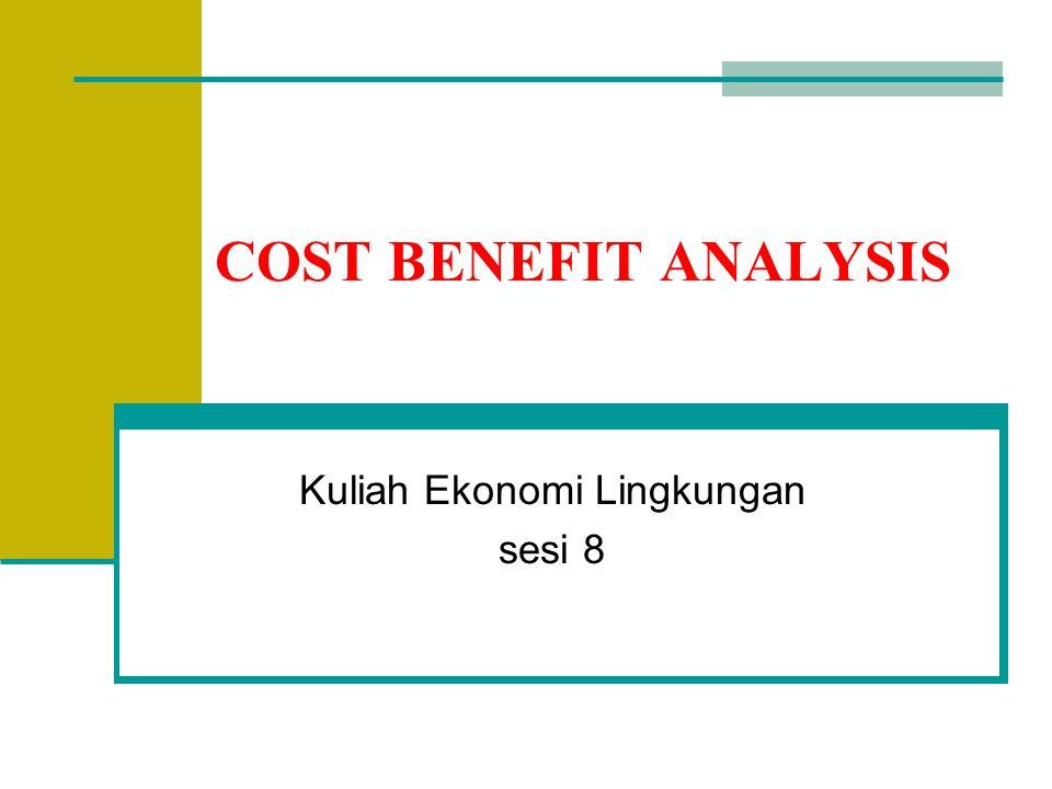 Langkah 3a: Mengidentifikasi Benefits dan Costs (2) Biaya primer proyek IPAL Bintulli: Biaya investasi -biaya pembangunan stasiun pemompa limbah, gedung kantor dan fasilitas IPAL -biaya pembelian peralatan biaya O&M: -gaji dan upah pekerja -biaya bahan bakar & kimia -manajemen proyek -persiapan proyek, dsb